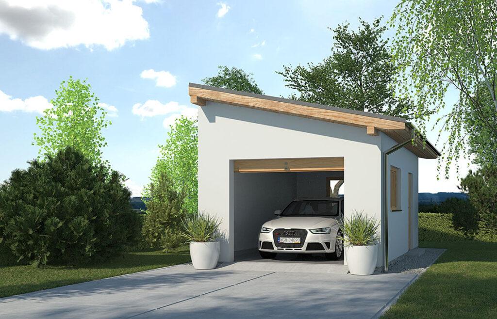 Projekt garażu-budynku gospodarczego APG-1A