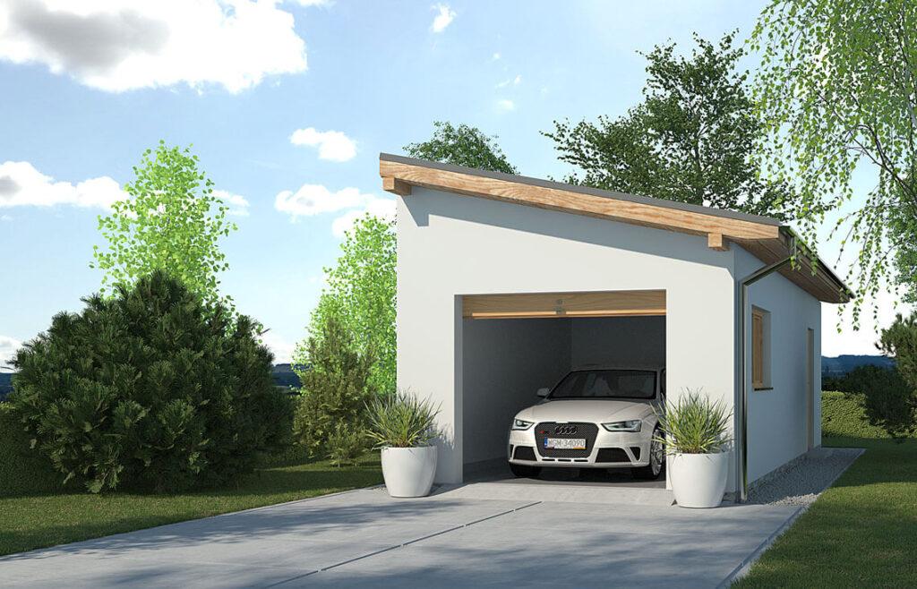 Projekt garażu-budynku gospodarczego APG-1B
