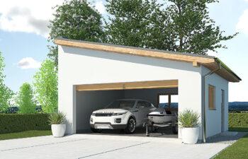 Projekt garażu wolnostojącego APG 2A widok front