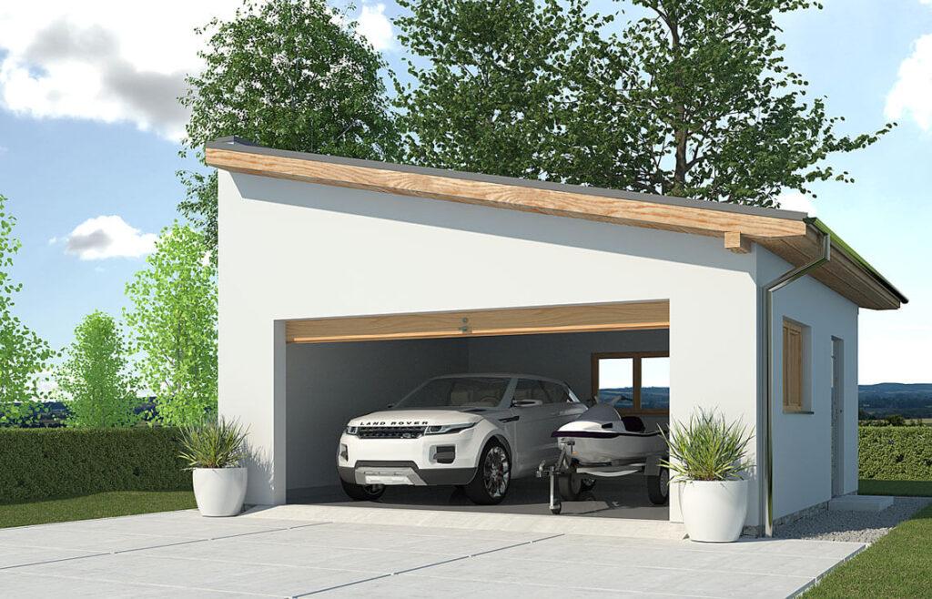 Projekt garażu-budynku gospodarczego APG-2A