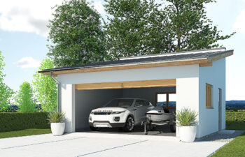 Projekt garażu wolnostojącego APG 2B widok front