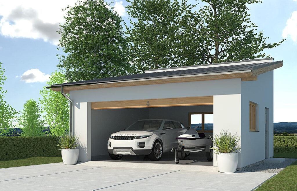 Projekt garażu-budynku gospodarczego APG-2B