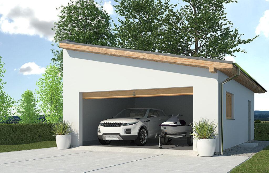 Projekt garażu-budynku gospodarczego APG-2C