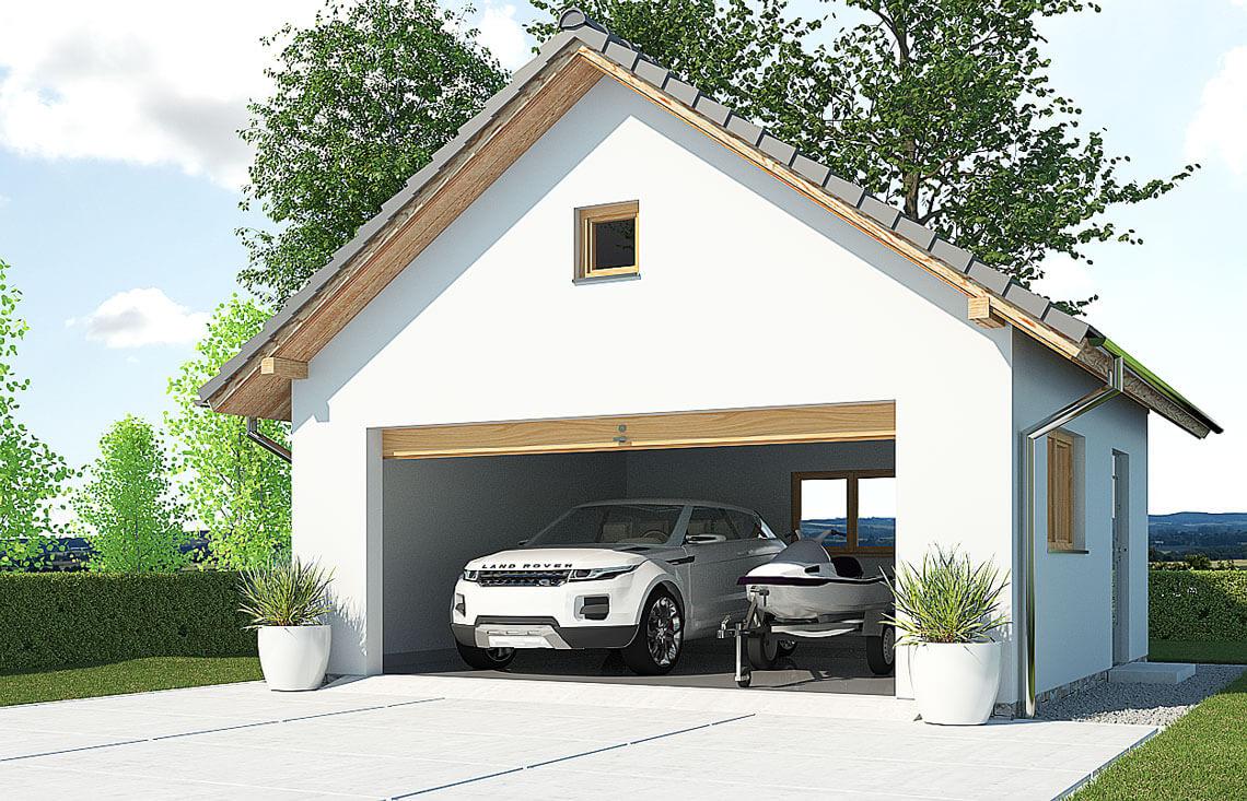 Projekt garażu wolnostojącego APG 4A widok front