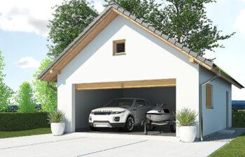 Projekt garażu wolnostojącego APG 4B widok front