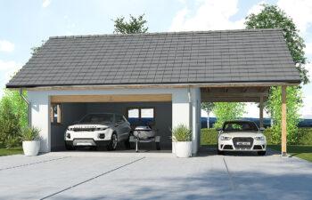 Projekt garażu-budynku gospodarczego APG-6A
