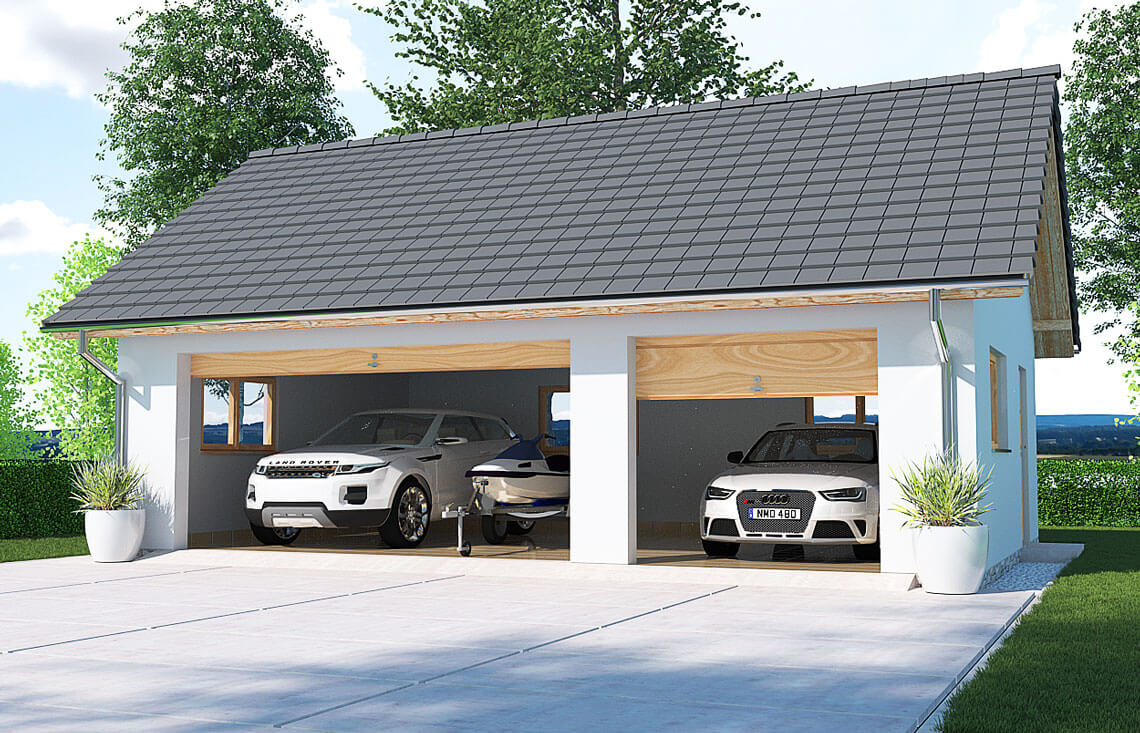 Projekt garażu wolnostojącego APG 6B widok front