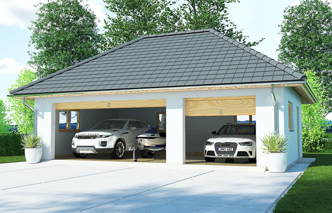 Projekt garażu wolnostojącego APG 7B widok front