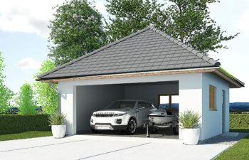 Projekt garażu wolnostojącego APG 7C widok front