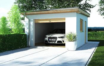 Projekt garażu wolnostojącego APG 8 widok front