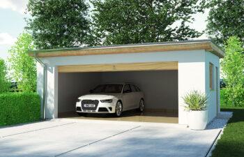 Projekt garażu wolnostojącego APG 9 widok front