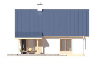 Projekt domu jednorodzinnego Abi A elewacja ogród