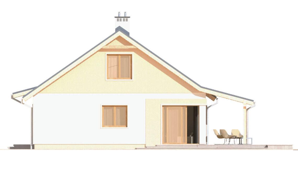 Projekt domu jednorodzinnego Abi A elewacja prawa