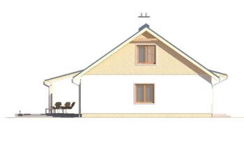 Projekt domu jednorodzinnego Abi A elewacja lewa