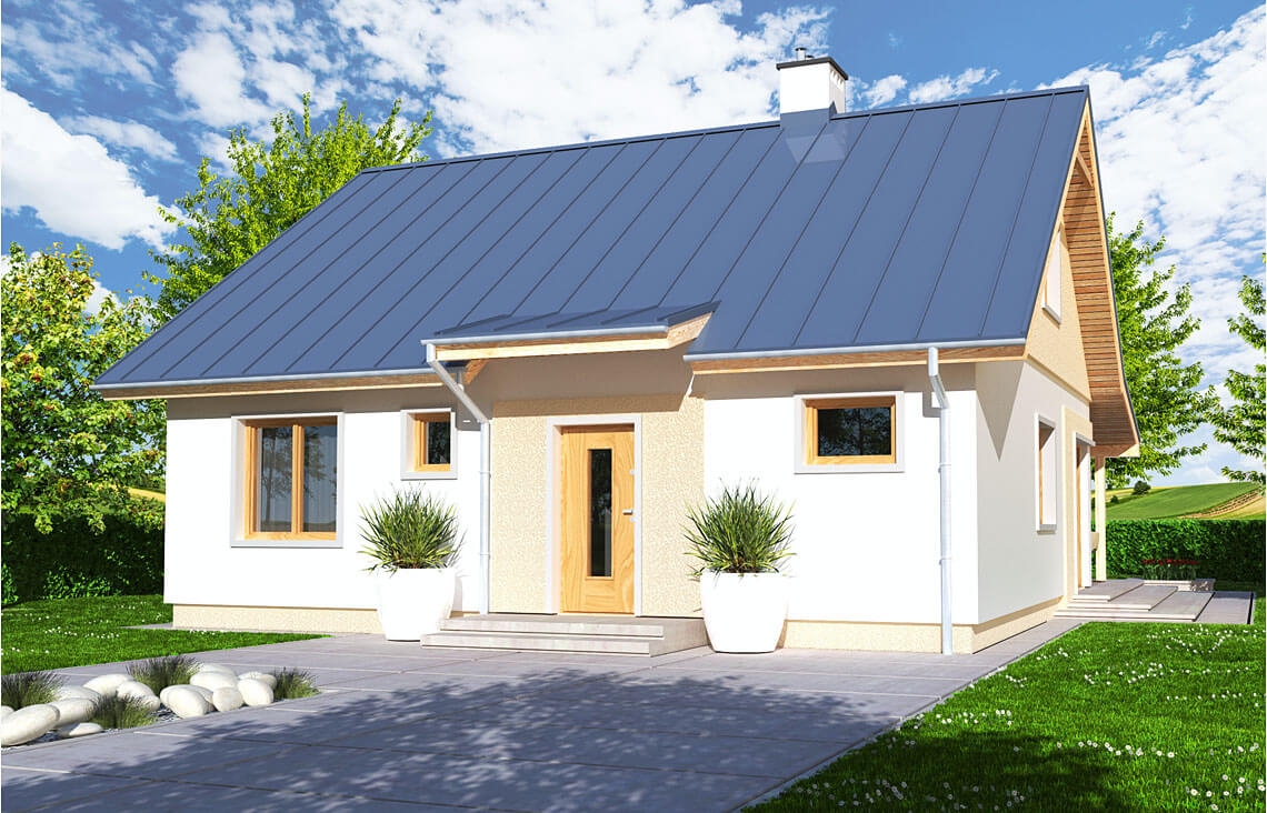 Projekt domu jednorodzinnego Abi A widok front