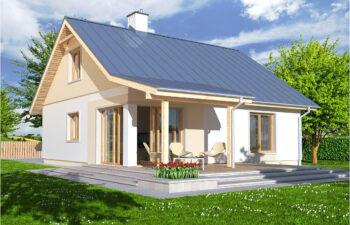 Projekt domu jednorodzinnego Abi A widok ogród