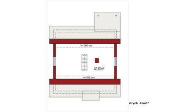 Projekt domu jednorodzinnego Abi A rzut poddasza