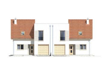 Projekt domu bliźniaczego Adam elewacja front