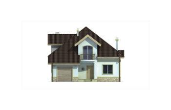 Projekt domu jednorodzinnego Agio B elewacja front