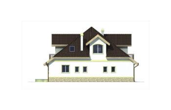Projekt domu jednorodzinnego Agio elewacja lewa