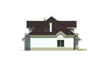 Projekt domu jednorodzinnego Agio B elewacja prawa