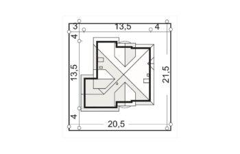 Projekt domu jednorodzinnego Agio B sytuacja