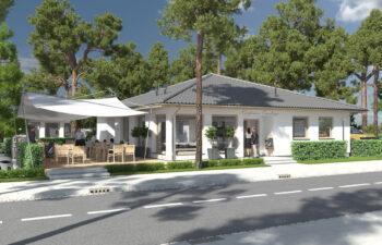 Projekt usługowy Bar Restauracja Kuchenne Ewolucje widok front 2