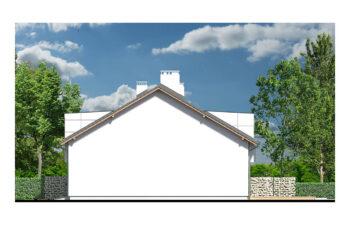 Projekt domu szeregowego, bliźniaczego Diana 2 - elewacja lewa