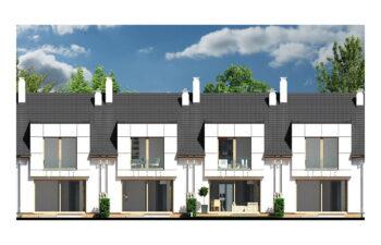 Projekt domu szeregowego, bliźniaczego Diana 2 - elewacja ogród
