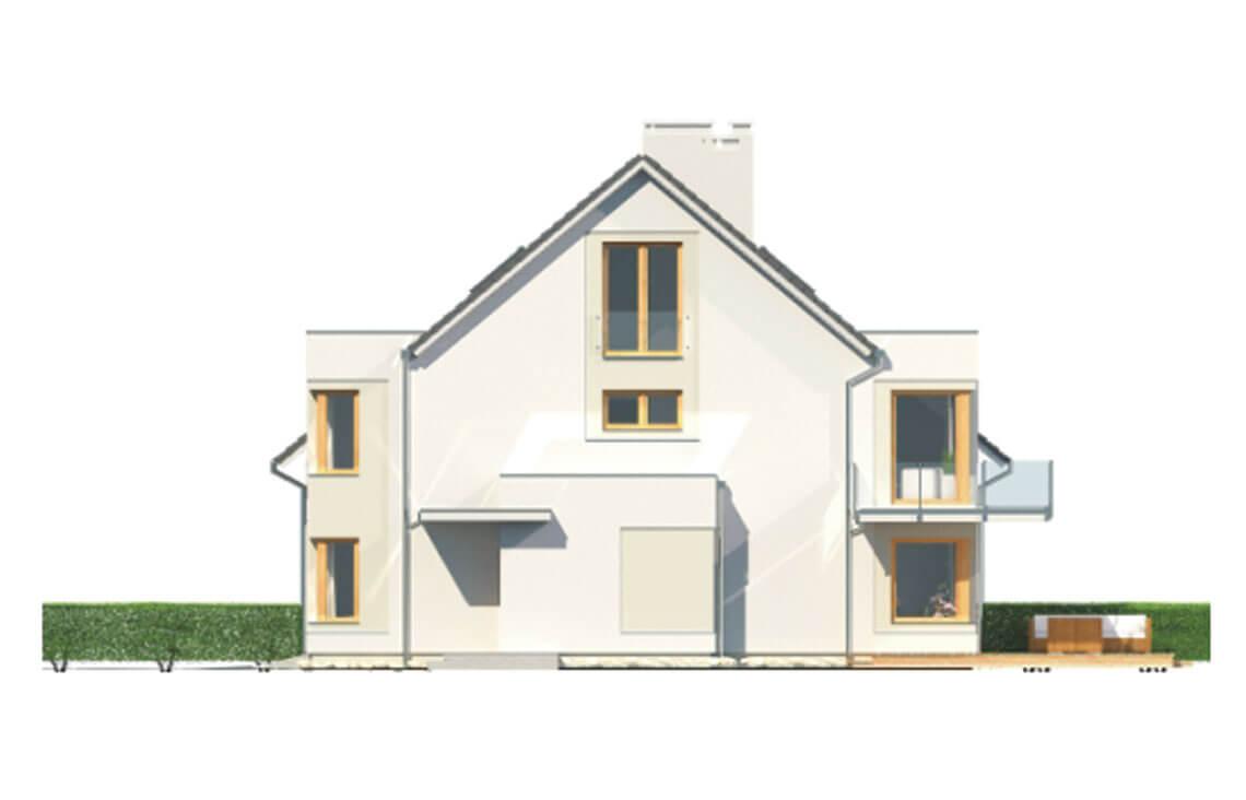 Projekt domu bliźniaczego Diana Grande A,B bliźniak i szereg elewacja prawa
