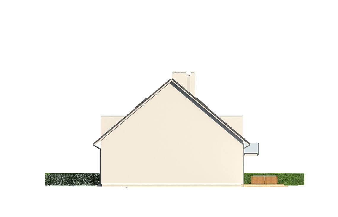 Projekt domu bliźniaczego Diana Grande A,B bliźniak i szereg elewacja lewa