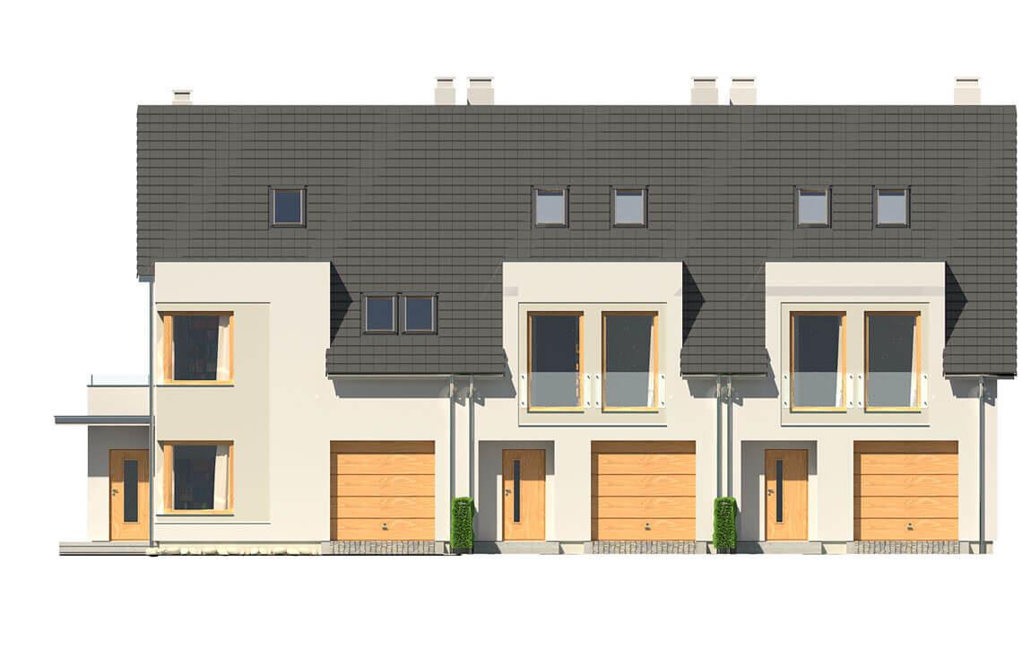 Projekt domu szeregowego-bliźniaczego Diana A,B i Diana Grande A,B elewacja front