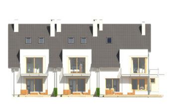Projekt domu szeregowego-bliźniaczego Diana A,B i Diana Grande A,B elewacja ogród