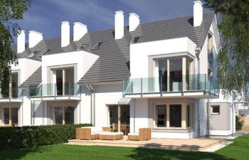 Projekt domu szeregowego-bliźniaczego Diana A,B i Diana Grande A,B ogród bok