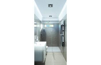 Projekt domu jednorodzinnego Dom dla Młodych Lux wnętrze łazienka dolna