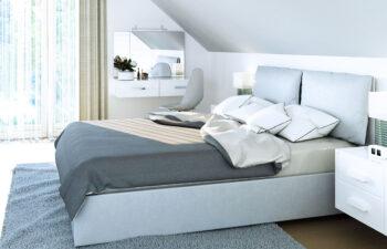 Projekt domu jednorodzinnego Dom dla Młodych Lux wnętrze sypialnia