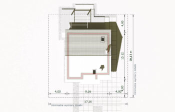 Projekt domu jednorodzinnego Dom dla Młodych Lux sytuacja