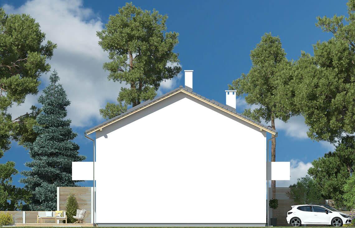 Projekt domu Elena A elewacja lewa