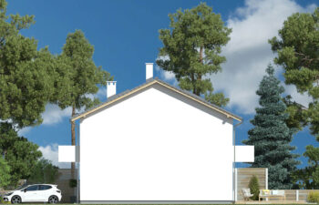 Projekt domu Elena A elewacja prawa
