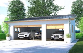 Projekt garażu wolnostojącego APG 2E widok front
