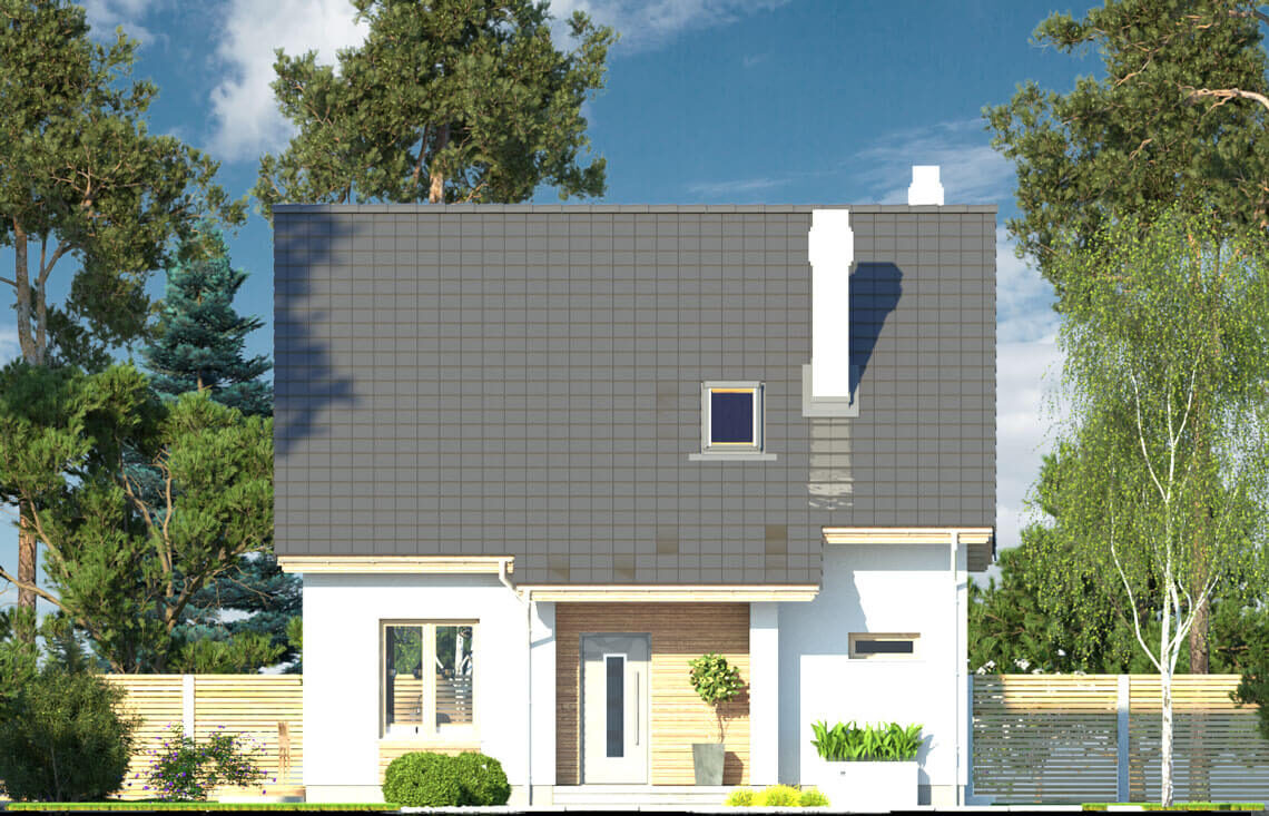 Projekt domu jednorodzinnego Dom dla Młodych Lux elewacja front
