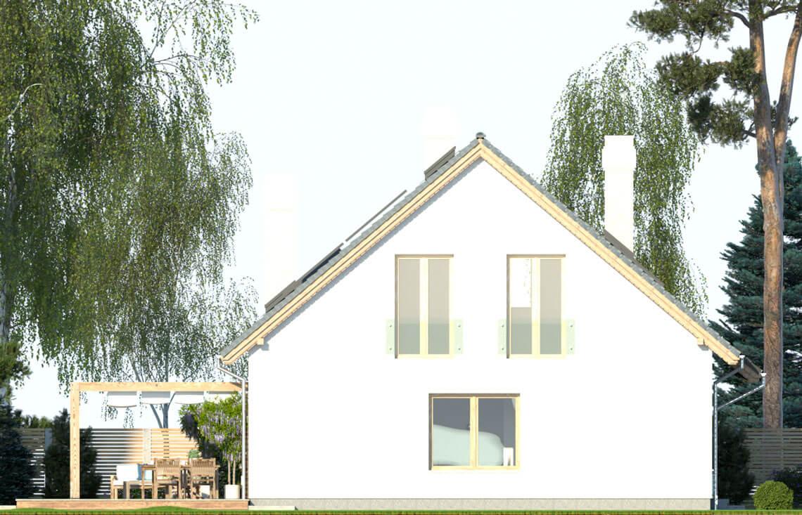 Projekt domu jednorodzinnego Dom dla Młodych Lux elewacja lewa
