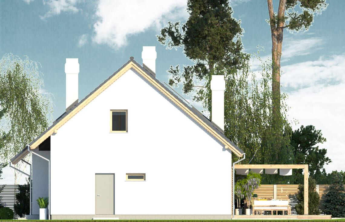 Projekt domu jednorodzinnego Dom dla Młodych Lux elewacja prawa