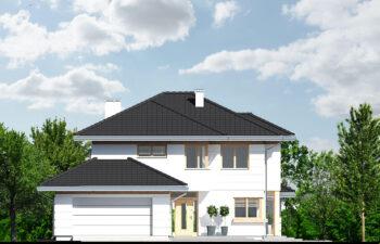 Projekt domu jednorodzinnego Carmen Magdalena B elewacja front