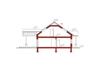 Projekt domu jednorodzinnego Anita Nova A Plus przekrój