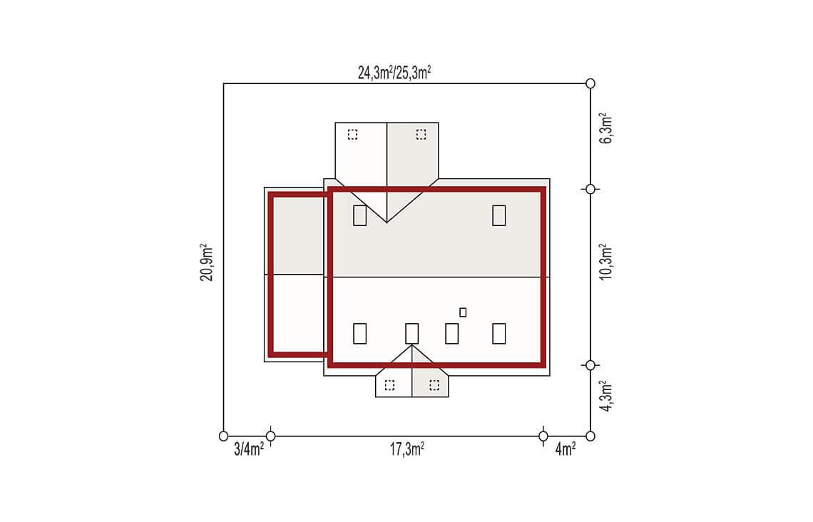 Projekt domu jednorodzinnego Anita Nova A sytuacja
