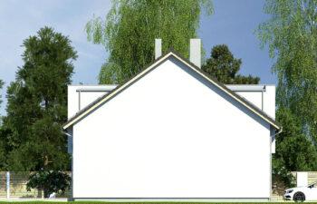 Projekt domu szeregowego-bliźniaczego Iskra bliźniak B elewacja lewa