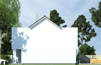 Projekt domu szeregowego-bliźniaczego Iskra bliźniak B elewacja prawa