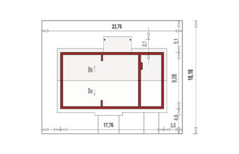 Projekt domu Nina 2 Nova C D PLUS sytuacja