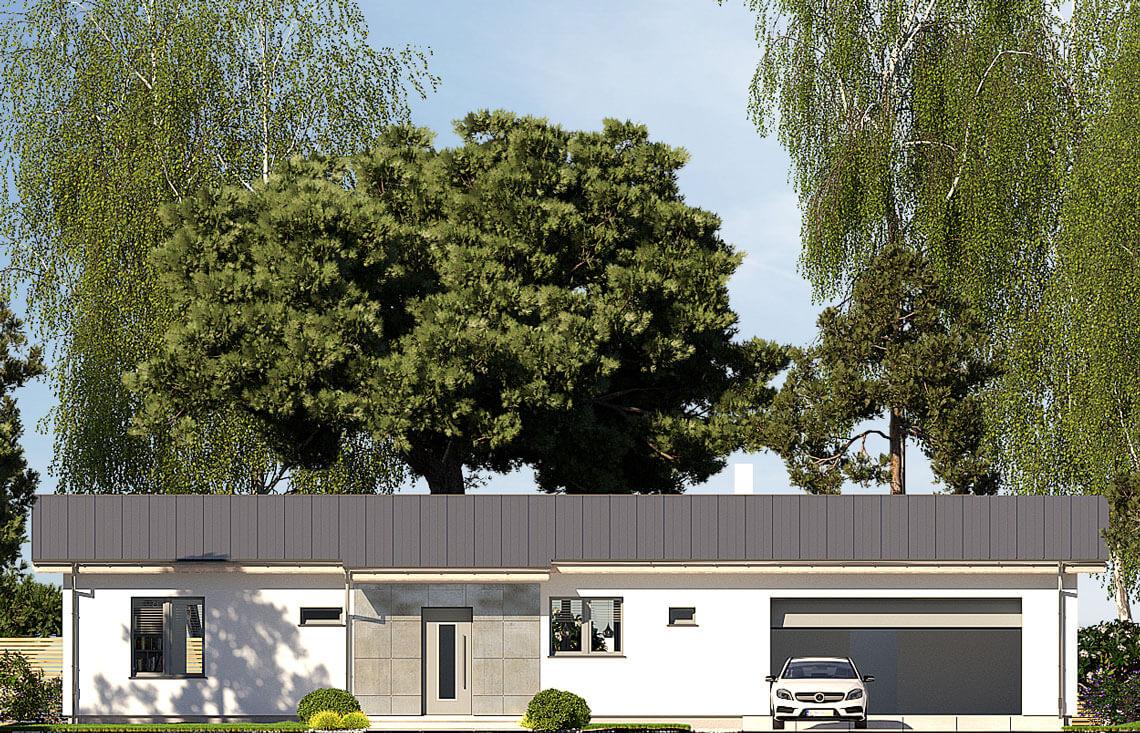 Projekt domu jednorodzinnego Nina F i F Plus elewacja front